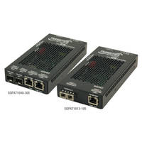 Ethernet PoE+ Media Converters come with wall or DIN rail mounting options.