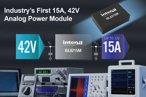 42V DC/DC Step-Down Power Module offers programmable soft-start.
