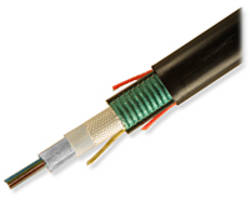 AccuRibbon® DC Fiber Optic Cables feature super-absorbent polymer tapes.