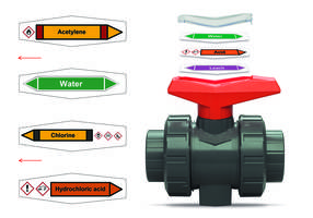 Ball Valve Labels are UV resistant.