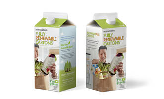 RenewablePlus™ Cartons feature sugarcane-based polyethylene.