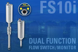 Dual Function FS10i Flow Switch/Monitor Performs Double-Duty In Air Or Other Gases To Cut Plant Costs