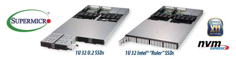 Petabyte Scale 1U and JBOF Storage Servers deliver up to 1PB in 1U of rack space.