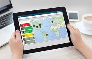 iNet® Live Monitoring Software features live map displays.