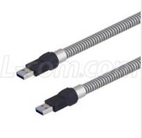 USB 3.0 Armored Cables feature crush-resistant armor.