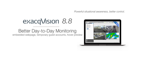 v8.8 exacqVision Video Management System is suitable for retail applications.