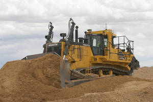 D375A-8 Crawler Dozer is equipped with dual Komatsu diesel particulate filters.