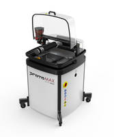 ProtoMAX abrasive waterjet is equipped with 5 HP pump.