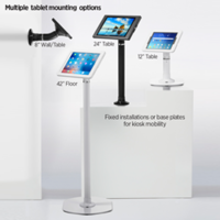 Pipeline™ Kiosk System comes with multiple tablet enclosure options.