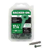 Backer-On® and Rock-On® Cement Board Screws feature serrated head.