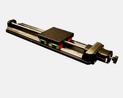 Ball Bearing Linear Guide Positioning Stages feature 2 µ backlash lead screw.