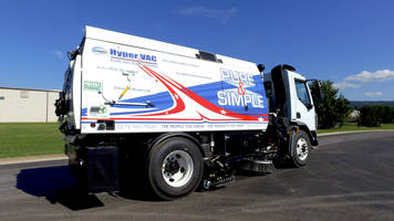 HyperVac Vacuum Street Sweeper comes with dual vacuum nozzles.