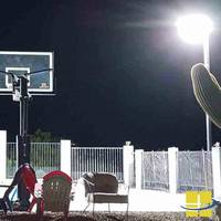 Backyard Led Basketball Court Lighting Package Consists Of Four Kota Sports Light Fixtures Unit Is Designed For Courts With An Area 30 Ft X 35 And