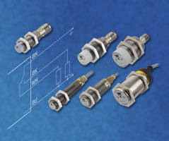 4-Wire Proximity Sensors feature integrated diagnostics LED.