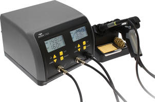 Soldering/De-Soldering System comes with dual LCD displays.