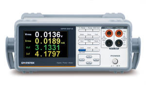 GW Instek GPM-8213 AC Power Meter features front- and rear-panel inputs.