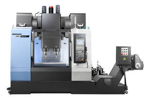 Doosan's DMP 500/2SP offers dual-spindle vertical machining.