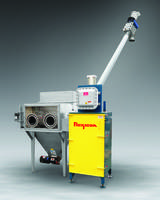 Bag Dump Station is equipped with timer-activated solenoid valves.