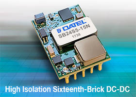 2250VDC DC-DC Converters come in 0.9 x 1.3 x 0.404 in. package.