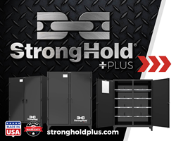 Strong Hold Plus™ Industrial Cabinet comes with heavy-duty leaf hinges.