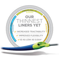 StreamLiner™ VT Thin Walled PTFE Catheter Liner comes with a wall thickness of .001 in.
