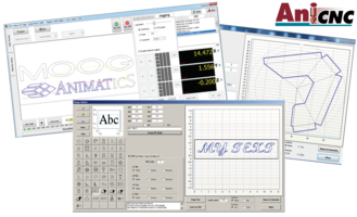 AniCNC™ Application Software features nested-array code building capability.