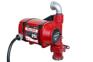 Fill-Rite nextec™ Intelligence Fuel Transfer Pump comes with ultra-high flow nozzle.