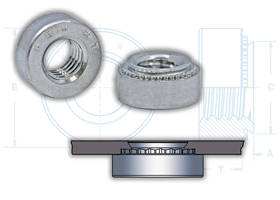 PEM® S-RT™ Self-Clinching Locknuts comes with zinc plated finishing.