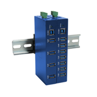 Industrial Super Speed USB 3.0 Hubs feature heavy-duty metal case.