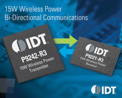 15W Wireless Power Chipset is suitable for myriad power applications.