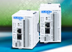 CLICK Series Stackable Micro Brick PLCs feature calendar/real time clock.