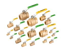 Leaded and Lead-Free Brass Ball Valves are UL/FM approved.