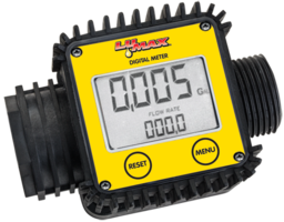 Electronic Digital Flow Meter uses two AAA batteries.