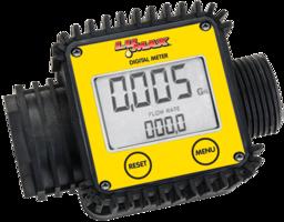 Electronic Digital Flow Meter uses two AAA batteries.