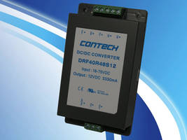 DRF Series 40 Watt Chassis DC/DC Converters are RoHS compliant.