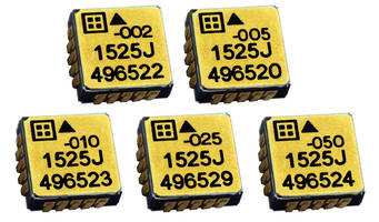 Model 1525 Series MEMS Capacitive Accelerometers come in LCC-20 ceramic package.