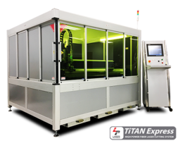 Titan Express Fiber Laser Cutting Machine features direct drive motion system.