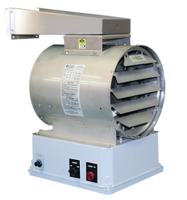 WCH1 Neptune Series Electric Unit Heaters come with non-metallic control enclosure.
