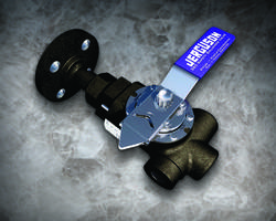 Jerguson® 360 Series Safety Ballcheck Valves come with cleanout port.