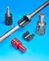 Clamp-Style Shaft Adapters feature clamp-type female end.