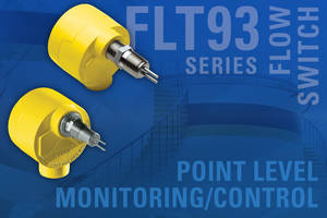 FLT Series Switch is equipped with thermal dispersion mass flow sensor.