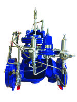 Pressure Management Valve automatically adjusts to optimal downstream pressure.