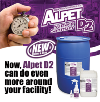 Alpet D2 Surface Sanitizer meets NSF and EPA standards.