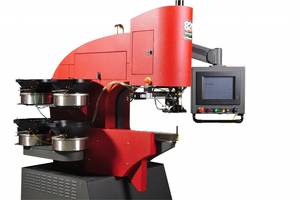 Haeger 824 OneTouch 4e Hardware Insertion Machine comes with automatic feeders.