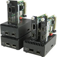 10G Media Converters feature pluggable transceiver ports.