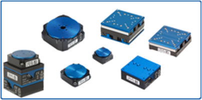 Miniature Positioning Stages are powered by ceramic direct-drive motors.