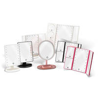 LED Lighted Table Top Mirror comes with adjustable tilt.