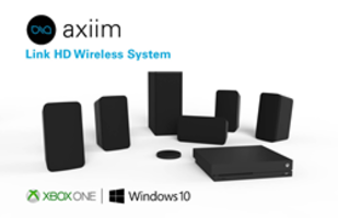 Axiim Link HD Wireless Speaker System comes with USB cable.