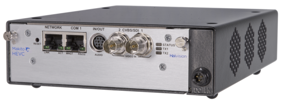 Makito X Series HEVC and H.264 Encoders feature SRT technology.