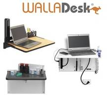 WALLAdesk Folding Desks come with durable steel frames.